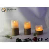 China Smooth Surface Finish Pillar Moving Flame Led Candles For Party MF-003 on sale