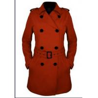 Quality Lady's jacket Fashion long Double breasted Coat With Belt for Autumn and Winter for sale