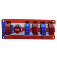 Buy cheap 12V Switch Panel Puerto Rican Flag, Push Start, 1 WHITE/4 RED LED Toggle Switch product