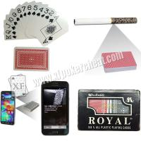 Buy cheap Royal Plastic Marked Poker Cards Narrow Size Super Index For UV Contact Lenses product