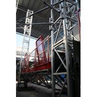 Buy cheap Outside Wall Painted Mast Climbing Work Platform  Rack and Pinion 3 phase  Washing product