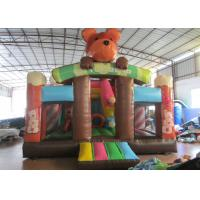Buy cheap Lovely bear inflatable standard slide for kids inflatable bear slide house on sale inflatable brown bear standard slide product