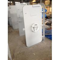 Quality White Coating Round Window Marine Watertight Door With Wheel Handle for sale