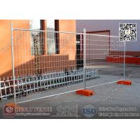 Buy cheap 2.1X2.4m Australia Temporary Fencing Panel Sales with blow moulded plastic blocks product
