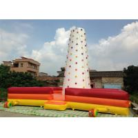 Buy cheap Children Inflatable Climbing Mountain 9 X 9 X 8m white inflatable rock climbing wall with fence around product