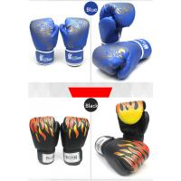 Buy cheap black red blue PU Kick Boxing Gloves Man Training grant taekwondo  gloves product