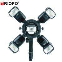 Buy cheap TRIOPO TR-05 Bowen mount Camera flash speedlite bracket with black color from wholesalers