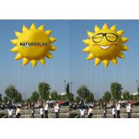 Buy cheap Sun Shaped Custom Inflatable Helium Balloons And Blimps 0.18mm PVC Material from wholesalers