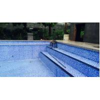 Buy cheap Sheet size: 300x300mm thickness: 4mm glass mosaic for swimming pool tile product