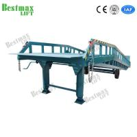 China Hydraulic Mobile Dock Ramp With Outriggers , Container Forklift Loading Ramp on sale