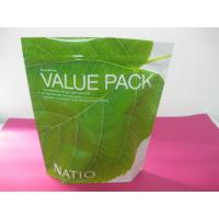 Recycled Laminated Green Stand Up Pouch Bag Ziplock for Facial Cream