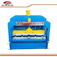 Buy cheap Roof Tile Trapezoidal Sheet Roll Forming Machine With Hydraulic Cutter 1 Year Warranty product