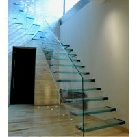 Buy cheap Indoor laminated glass staircase  cantilever stair product