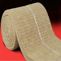 Buy cheap Insulation rock wool blanket with wire mesh for oven and buildings product