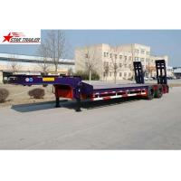 Buy cheap Hydraulic Semi Low Loader Trailer , Reinforced Lowboy Heavy Equipment Trailers from wholesalers
