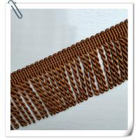 Buy cheap 2017 Factory Direct Hot Sales New Style Brown Color Rayon Bullion Trimming Brush Tassel fringe For Sofa product