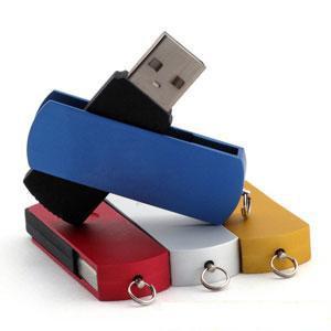 Metal  and Plastic Custom  2gb Swivel Flash Drive    32gb 128gb   Colorful Printing