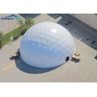 Buy cheap Transparent Geo Dome Tent Shelter With Soft PVC Fabric Wall/ Steel Tube Plastic from wholesalers