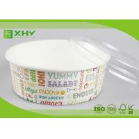 Buy cheap No Leak 1000ML Paper Salad Bowls Food Grade FDA & FSC & BRC & ISO Certification product