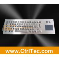 Buy cheap metal keyboard with touch pad, trackpad product