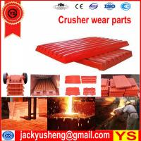 China mining crusher casting spares, jaw crusher spare parts, jaw crusher jaw plate on sale