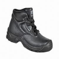 Buy cheap Working Safety Shoes with Embossed Cow Leather and PU Injection product