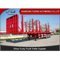 Buy cheap Timber Transport Logging Semi Trailer , 2 / 3 Axles Flatbed Trailer product