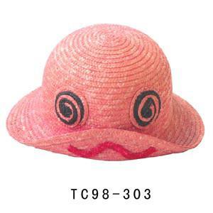 Buy cheap chapeau de Sun des enfants mignons roses de 56cm pour l'été, chapeaux de Sun de loisirs de tresse de paille de 7mm product