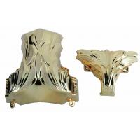 PP Plastic Coffin Corner 1# In Light Gold Color With Steel Bar And Lift Heavy Weight Casket