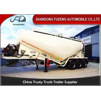 Quality 30-60 Cubic Meter Bulk Cement Tanker Trailer 3x13 Ton Axle Steel Q345B End Plate for sale