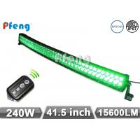 China 41.5 Inch 240W Green White Curved Led Light Bar With Wireless Remote Control on sale