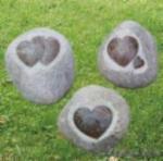 Buy cheap Garden Decoration Heart Shape Stone product