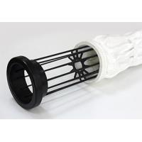 Buy cheap Mild / Stainless Steel Filter Bag Cage With 12 / 16 Wires Silicon Coating product