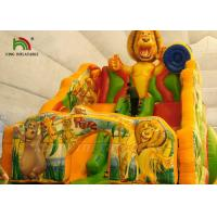 Buy cheap Colorful Inflatable Dry Slide Jungle Wild Animal Digital Printed product