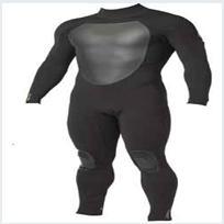 ネオプレンの黒人男性の潜水服