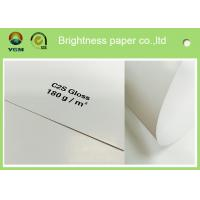 Buy cheap Large Art Card Paper Glossy Coated , Art Board Paper For High Speed Sheet Fed Press product