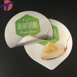 Buy cheap Cheese packaging material pre cut Aluminium covers,cheese sealing aluminium foil lids product