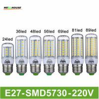 Buy cheap Goodland Brand LED Lamp E27 220V LED Light 24/36/48/56/69/81/89LEDs Lampada LED Bulb Christmas Chandelier Lights product