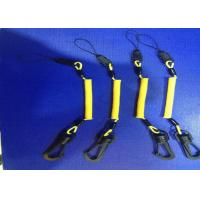 China 3.0 mm Phone Holde Hand Tool Lanyards Yellow Coating With POM Swivel Hook And Clips on sale