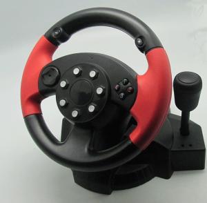 Buy cheap Petit jeu de PC de vibration d'USB emballant le volant et les pédales de PC de roue product