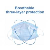 Buy cheap Blue  Disposable 3 Ply Face Mask , Disposable Mouth Mask Good Breathability product