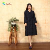 Buy cheap Vintage Ladies Long Sleeve Dresses Plus Size Notched Collar For Spring / Autumn product