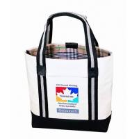 China Custom Canvas Bags With Long Strap Inside Small Zipper Pockets on sale
