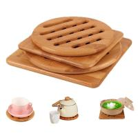 Buy cheap High Durability Bamboo Office Supplies Bamboo Coaster Coaster Holder Easy Cleaning product