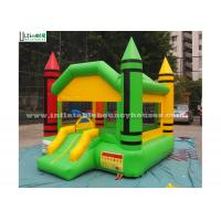 Indoor Mini Crayon Jumping Castles For Adults / Backyard Obstacle Course Fun