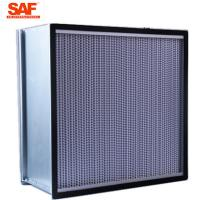 Buy cheap Cleanroom Deap Pleated Hepa Filter , 0.3 Micron Hepa Filter With Paper Foil Separater product