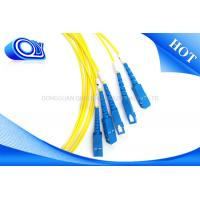 Buy cheap Yellow Single Mode Fiber Optic Patch Cable G652D 3.0 mm 2.0mm 0.9mm product
