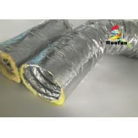 Buy cheap Round 10 Inch HVAC Duct Insulation Wrap , Aluminum Foil Insulated Ventilation Metal Duct Insulation Wrap product