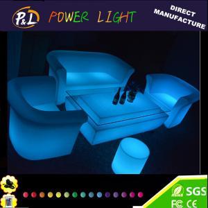 Buy cheap Outdoor Plastic Illuminated LED Lounge Sofa Set from wholesalers