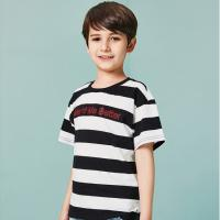 Buy cheap Two-tone Texture T-Shirt Kids' Clothes Short Sleeve Cotton Boys Clothing product